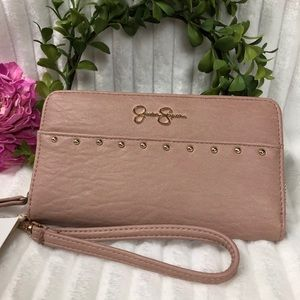 Jessica Simpson Studded Zippered Wallet Wrislet
